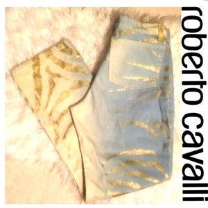Roberto Cavalli ombre zebra jeans sz small